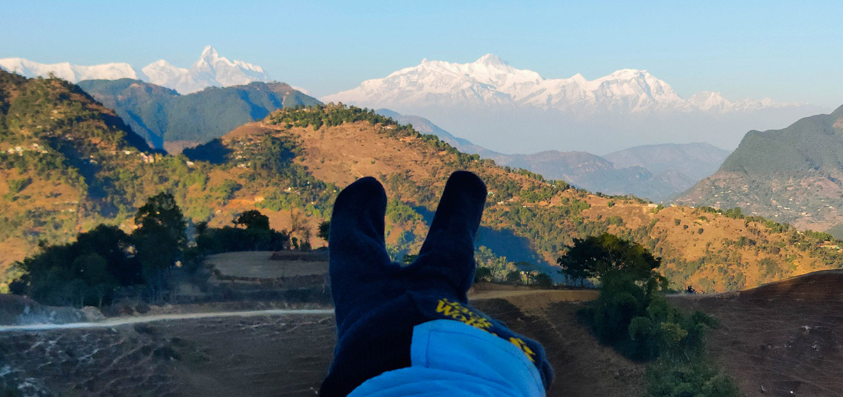 Annapurna Range View From Bahunthan